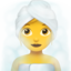 woman in steamy room Emoji on Apple, iOS
