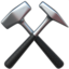 hammer and pick Emoji on Apple, iOS