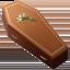 coffin Emoji on Apple, iOS