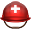 rescue worker's helmet Emoji on Apple, iOS