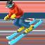 skier Emoji on Apple, iOS