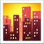 cityscape at dusk Emoji on Apple, iOS