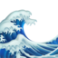 water wave Emoji on Apple, iOS