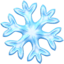 snowflake Emoji on Apple, iOS