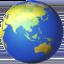 globe showing Asia-Australia Emoji on Apple, iOS