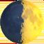 first quarter moon Emoji on Apple, iOS