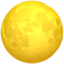 full moon Emoji on Apple, iOS