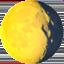 waning gibbous moon Emoji on Apple, iOS