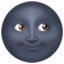 new moon face Emoji on Apple, iOS