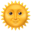sun Emoji on Apple, iOS
