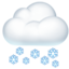 cloud with snow Emoji on Apple, iOS