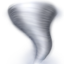 tornado Emoji on Apple, iOS