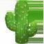 cactus Emoji on Apple, iOS