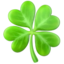 shamrock Emoji on Apple, iOS