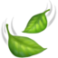 leaf fluttering in wind Emoji on Apple, iOS