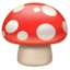 mushroom Emoji on Apple, iOS