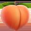 peach Emoji on Apple, iOS