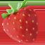 strawberry Emoji on Apple, iOS