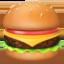 hamburger Emoji on Apple, iOS