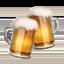 Emoji de jarras de cerveza en Apple, iOS