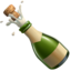 bottle with popping cork Emoji on Apple, iOS