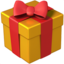 wrapped gift Emoji on Apple, iOS