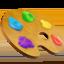 artist palette Emoji on Apple, iOS