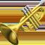 trumpet Emoji on Apple, iOS