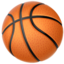 basketball Emoji on Apple, iOS