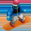 snowboarder Emoji on Apple, iOS