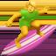 woman surfing Emoji on Apple, iOS