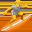 person surfing Emoji on Apple, iOS