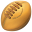 rugby football Emoji on Apple, iOS