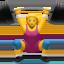 woman lifting weights Emoji on Apple, iOS