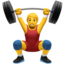 man lifting weights Emoji on Apple, iOS