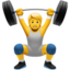person lifting weights Emoji on Apple, iOS