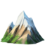 snow-capped mountain Emoji on Apple, iOS