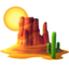 desert Emoji on Apple, iOS