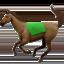 horse Emoji on Apple, iOS