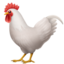 rooster Emoji on Apple, iOS