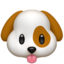 dog face Emoji on Apple, iOS