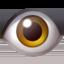 eye Emoji on Apple, iOS