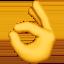 OK hand Emoji on Apple, iOS