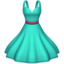 dress Emoji on Apple, iOS