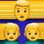 family: man, boy, boy Emoji on Apple, iOS