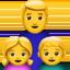 family: man, girl, boy Emoji on Apple, iOS