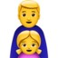 family: man, girl Emoji on Apple, iOS