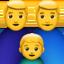 family: man, man, boy Emoji on Apple, iOS