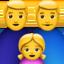 family: man, man, girl Emoji on Apple, iOS
