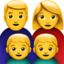 family: man, woman, boy, boy Emoji on Apple, iOS